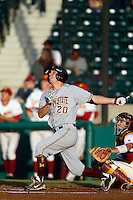 Trever Allen #20 of the Arizona State Sun Devils bats against the USC Trojans at Dedeaux Field on April 12, 2013 in Los Angeles, California. USC defeated Arizona State, 5-0. (Larry Goren/Four Seam Images)