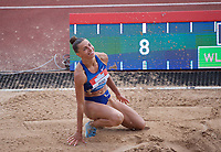 Maryna Bekh-Romanchuk (Ukraine) competing in the Women's Long Jump during the IAAF Diamond League Athletics Müller Grand Prix Birmingham at Alexander Stadium, Walsall Road, Birmingham on 18 August 2019. Photo by Alan  Stanford.