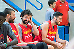 Marc Gasol (l), Sergio Llull and Joan Sastre (r) during the training of Spanish National Team of Basketball. August 07, 2019. (ALTERPHOTOS/Francis González)