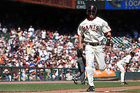 19 April 2009: San Francisco Giants' Randy Winn comes in to score the Giants' first run during the San Francisco Giants' 2-0 win  against the Arizona Diamondbacks at AT&T Park in San Francisco, CA.
