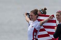 Sarasota. Florida USA.  USA LW1X, Mary JONES, wins a bronze medal, at the 2017 World Rowing Championships, Nathan Benderson Park<br /> <br /> Friday  29.09.17   <br /> <br /> [Mandatory Credit. Peter SPURRIER/Intersport Images].<br /> <br /> <br /> NIKON CORPORATION -  NIKON D500  lens  VR 500mm f/4G IF-ED mm. 200 ISO 1/800/sec. f 5.6
