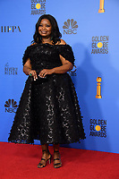 Octavia Spencer pose backstage in the press room at the 76th Annual Golden Globe Awards at the Beverly Hilton in Beverly Hills, CA on Sunday, January 6, 2019.<br /> *Editorial Use Only*<br /> CAP/PLF/HFPA<br /> Image supplied by Capital Pictures