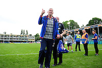 Bath Director of Rugby Todd Blackadder gives a thumbs up to supporters after the match. Aviva Premiership match, between Bath Rugby and Newcastle Falcons on September 10, 2016 at the Recreation Ground in Bath, England. Photo by: Patrick Khachfe / Onside Images