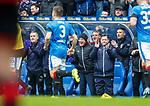 07.04.2018 Rangers v Dundee:<br /> Rangers bench applaud Kenny Miller's goal