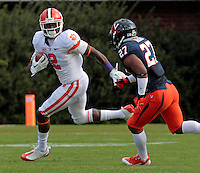 DUPLICATE***Clemson wide receiver Sammy Watkins (2) during and NCAA football game at Scott Stadium in Charlottesville, VA. Clemson defeated Virginia 59-10. Photo/Andrew Shurtleff