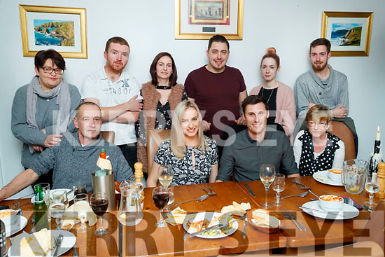 Helena O'Sullivan, Milltown and Todd Worth, Perth Australia, who celebrated their engagement with family and friends on Friday night last, front l-r: Timmy O'Sullivan, Helena O'Sullivan, Todd Worth and Geraldine O'Sullivan. Back l-r: Sinead O'Brien, Erin O'Dowd, Jamie O'Sullivan, Timmy Carey, Sandra O'Sullivan and Ricky O'Sullivan.