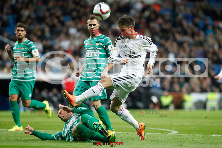 Real Madrid´s Medran during Spanish King Cup match between Real Madrid and Cornella at Santiago Bernabeu stadium in Madrid, Spain.December 2, 2014. (NortePhoto/ALTERPHOTOS/Victor Blanco)
