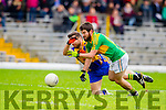 Ian Galvin South Kerry in Action against  Dara Crowley Kenmare in the County Senior Football Semi Final at Fitzgerald Stadium Killarney on Sunday.