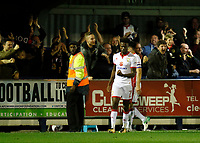 GOAL - Milton Keynes' Gboly Ariyibi celebrates his goal during the Sky Bet League 1 match between AFC Wimbledon and MK Dons at the Cherry Red Records Stadium, Kingston, England on 22 September 2017. Photo by Carlton Myrie / PRiME Media Images.