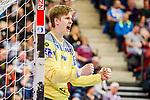 Jubel: Tobias Thulin (SC Magdeburg #12) beim Spiel in der Handball Bundesliga, TVB 1898 Stuttgart - SC Magdeburg.<br /> <br /> Foto © PIX-Sportfotos *** Foto ist honorarpflichtig! *** Auf Anfrage in hoeherer Qualitaet/Aufloesung. Belegexemplar erbeten. Veroeffentlichung ausschliesslich fuer journalistisch-publizistische Zwecke. For editorial use only.