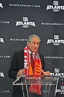 Atlanta, GA., - Wednesday, April 16, 2014: The city of Atlanta becomes Major League Soccer's (MLS) 22nd franchise beginning with the 2017 season.