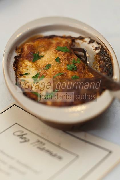 Europe/France/Picardie/80/Somme/Amiens: Ficelle picarde au Restaurant: Chez Maman,le restau brocante de Quentin Gambart