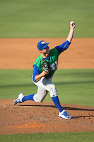 Lexington Legends starting pitcher Foster Griffin (33) delivers a pitch to the plate against the Kannapolis Intimidators at CMC-Northeast Stadium on May 25, 2015 in Kannapolis, North Carolina.  The Intimidators defeated the Legends 6-5.  (Brian Westerholt/Four Seam Images)