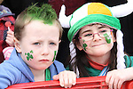 Ciarán and Aine Winters at the 2011 St.Patrick's Day Parade in Dunleer...(Photo credit should read Jenny Matthews/www.newsfile.ie)....This Picture has been sent you under the conditions enclosed by:.Newsfile Ltd..The Studio,.Millmount Abbey,.Drogheda,.Co Meath..Ireland..Tel: +353(0)41-9871240.Fax: +353(0)41-9871260.GSM: +353(0)86-2500958.email: pictures@newsfile.ie.www.newsfile.ie.