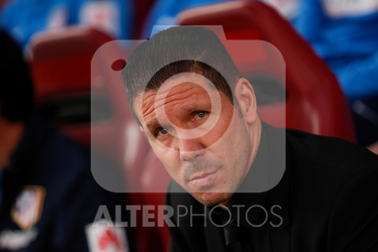Atletico de Madrid´s coach Diego Pablo Simeone during 2014-15 La Liga match between Atletico de Madrid and Deportivo de la Coruña at Vicente Calderon stadium in Madrid, Spain. November 30, 2014. (ALTERPHOTOS/Victor Blanco)