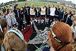 La Mesa, CA 05/30/09 - The La Costa Canyon Girls Lacrosse Team's pregame motivational circle at midfield.