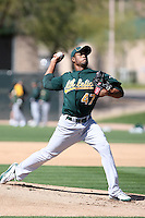 Hector Garcia, Oakland Athletics 2010 minor league spring training..Photo by:  Bill Mitchell/Four Seam Images.
