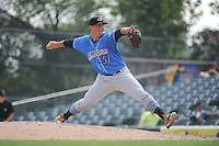 Akron RubberDucks pitcher Shawn Armstrong (37) during game against the Trenton Thunder at ARM & HAMMER Park on July 14, 2014 in Trenton, NJ.  Akron defeated Trenton 5-2.  (Tomasso DeRosa/Four Seam Images)