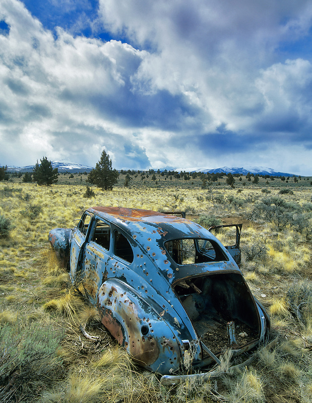 Abandoned old car near Burns, Oregon.
