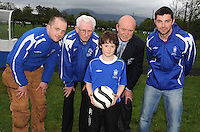 Looking forward to the Killarney Athletic FC U- 11 Development Weekend was U-11 player Emmet Cronin with club officers Damien McCormick (Secretary) Don O'Donoghue, Tom Tobin (Chairman) and Robin O'Day (Development Weekend Director). Picture: Eamonn Keogh ( MacMonagle, Killarney)