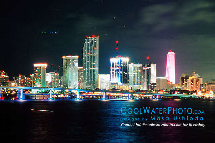 downtown Miami at night.Miami, Florida.