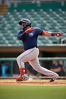 Mobile BayBears Roberto Pena (21) at bat during a Southern League game against the Montgomery Biscuits on May 2, 2019 at Riverwalk Stadium in Montgomery, Alabama.  Mobile defeated Montgomery 3-1.  (Mike Janes/Four Seam Images)