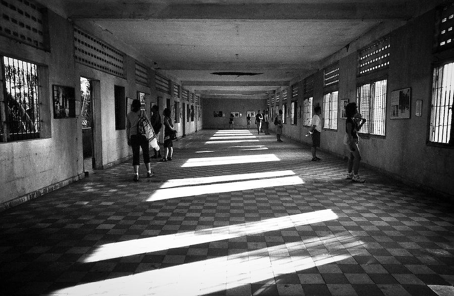 The S-21 (Security Prison 21) in Phnom Penh, Cambodia, where an estimated 17,000 people were imprisoned, tortured and killed by the Kmer Rouge regime between 1975 and 1979. Today this notorious detention center is open for visitors as the Tuol Sleng Genocide Museum.