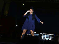 Washington, DC - April 14, 2018:  Actress and R&B singer 'Brandy' Norwood performs at Freedom Plaza in Washington, D.C. during the city's Emancipation Day celebration April 14, 2018. Smollett is known for his role as Jamal Lyon on the television series 'Empire.' (Photo by Don Baxter/Media Images International)