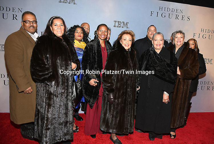 Katherine G Johnson's family attends &quot;Hidden Figures&quot; Special Screening on December 10, 2016 at SVA Theatre in New York, New York, USA.<br /> <br /> photo by Robin Platzer/Twin Images<br />  <br /> phone number 212-935-0770