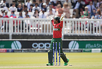 Mushfiqur Rahim (Bangladesh) appeals to the square leg umpire for the dismissal, hit wicket against Imam-ul-Haq (Pakistan) during Pakistan vs Bangladesh, ICC World Cup Cricket at Lord's Cricket Ground on 5th July 2019