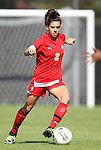 23 October 2011: Maryland's Domenica Hodak. The Duke University Blue Devils defeated the University of Maryland Terrapins 3-1 at Koskinen Stadium in Durham, North Carolina in an NCAA Division I Women's Soccer game.