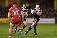 Francois Louw of Bath Rugby in possession. Gallagher Premiership match, between Bath Rugby and Sale Sharks on December 2, 2018 at the Recreation Ground in Bath, England. Photo by: Patrick Khachfe / Onside Images