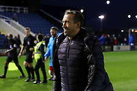 O's manager Justin Edinburgh at FT during AFC Fylde vs Leyton Orient, Vanarama National League Football at Mill Farm on 3rd November 2018