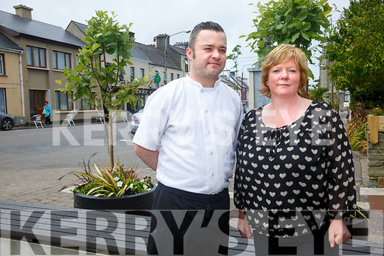 Positive outlook for Tourism in Cahersiveen and the surrounding area pictured l-r; Rory McCarthy(Camos Restaurant) & Catherine Cournane(Manager CCRC).