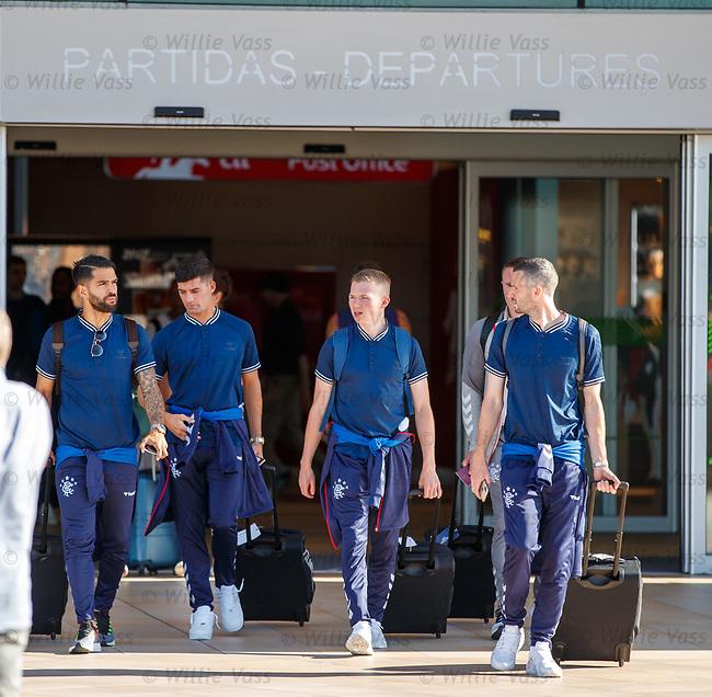 22.06.2019 Rangers arrive in Portugal: Daniel Candeias, Jordan Jones, Stevie Kelly and Jamie Murphy