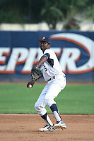 Manny Jefferson (5) of the Pepperdine Waves throws during a game against the Texas A&M Aggies at Eddy D. Field Stadium on February 26, 2016 in Malibu, California. Pepperdine defeated Texas A&M, 7-5. (Larry Goren/Four Seam Images)