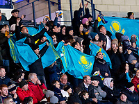 19th November 2019; Hampden Park, Glasgow, Scotland; European Championships 2020 Qualifier, Scotland versus Kazakhstan; Kazakhstan supporters enjoy the opening goal  - Editorial Use
