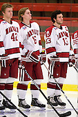 Brendan Rempel (Harvard - 42), Alex Fallstrom (Harvard - 16), Michael Del Mauro (Harvard - 13) - Sweden's Under-20 team defeated the Harvard University Crimson 2-1 on Monday, November 1, 2010, at Bright Hockey Center in Cambridge, Massachusetts.