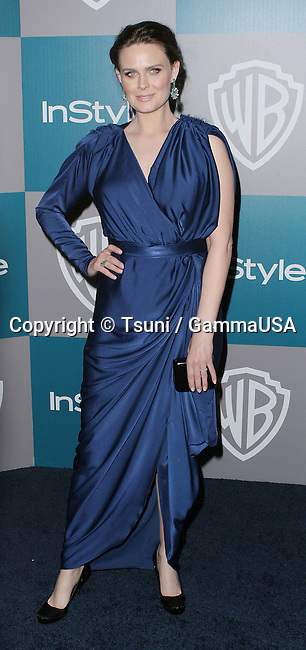 Emily Deschanel_052 at  the 13th Annual Warner Bros. and In Style Golden Globe After-Party at the Beverly Hilton In Los Angeles.