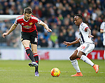 Michael Carrick of Manchester United tussles with Saido Berahino of West Bromwich Albion - English Premier League - West Bromwich Albion vs Manchester Utd - The Hawthorns Stadium - West Bromwich - England - 6th March 2016 - Picture Simon Bellis/Sportimage