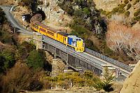 The historic Taieri Gorge Railway scenic trip