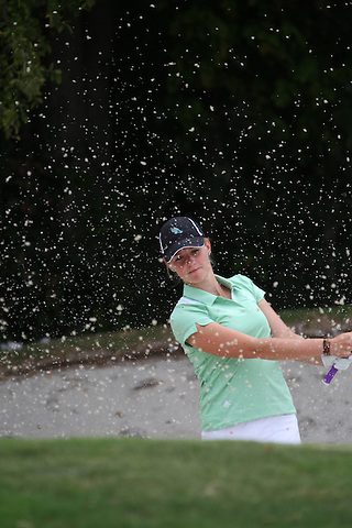 Denton, TX - AUGUST 31: University of North Texas Women's Golf Team  George Mundy at Bridlewood Country Club on August 31, 2012 in Flower Mound, Texas. (Photo by Rick Yeatts)