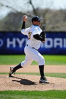 Trenton Thunder pitcher Josh Romanski (23) during game against the Akron Aeros at ARM & HAMMER Park on April 17, 2013 in Trenton, New Jersey.  Akron defeated Trenton 10-6.  Tomasso DeRosa/Four Seam Images