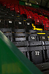 Traditional wooden seats in the main stand at The Oval, Belfast, pictured before Glentoran hosted city-rivals Cliftonville in an NIFL Premiership match. Glentoran, formed in 1892, have been based at The Oval since their formation and are historically one of Northern Ireland's 'big two' football clubs. They had an unprecendentally bad start to the 2016-17 league campaign, but came from behind to win this fixture 2-1, watched by a crowd of 1872.