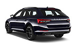 Car pictures of rear three quarter view of 2020 Skoda Superb-Combi Sportline 5 Door Wagon Angular Rear