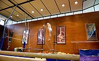 """Roma 5/7/2008 Palestra di Ginnastica del Centro Coni Giulio Onesti<br /> Allenamento di Igor Cassina, ginnasta, medaglia d'oro alla sbarra alle olimpiadi di Atene 2004. Igor Cassina ha inventato un nuovo esercizio, il """"Movimento Cassina"""" che consiste in un doppio salto teso con un avvitamento. Nel 2001 questo movimento e' stato inserito nel codice internazionale come elemento di massima difficolta'.<br /> Foto Andrea Staccioli Inside"""