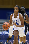 15 November 2016: Duke's Lexie Brown. The Duke University Blue Devils hosted the Longwood University Lancers at Cameron Indoor Stadium in Durham, North Carolina in a 2016-17 NCAA Division I Women's Basketball game. Duke won the game 105-48.