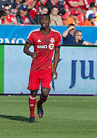 18 May 2013: Toronto FC defender Doneil Henry #4 in action during an MLS game between the Columbus Crew and Toronto FC at BMO Field in Toronto, Ontario Canada..The Columbus Crew won 1-0...