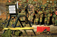 Military instructors chair at the Mountain Ranger Camp outside of Dahlonega, Georgia.