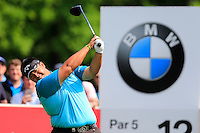 Kiradech Aphibarnrat (THA) on the 12th during round 3 of the 2016 BMW PGA Championship. Wentworth Golf Club, Virginia Water, Surrey, UK. 28/05/2016.<br /> Picture Fran Caffrey / Golffile.ie<br /> <br /> All photo usage must carry mandatory copyright credit (© Golffile   Fran Caffrey)